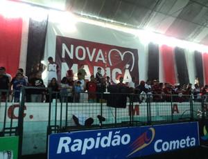 Torcida do Flamengo em Maricá showbol (Foto: Matheus Tibúrcio / SporTV.com)