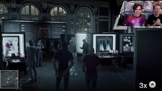 Veja gameplay estendido de 'Hitman' com Tiago Leifert e Mr. Poladoful