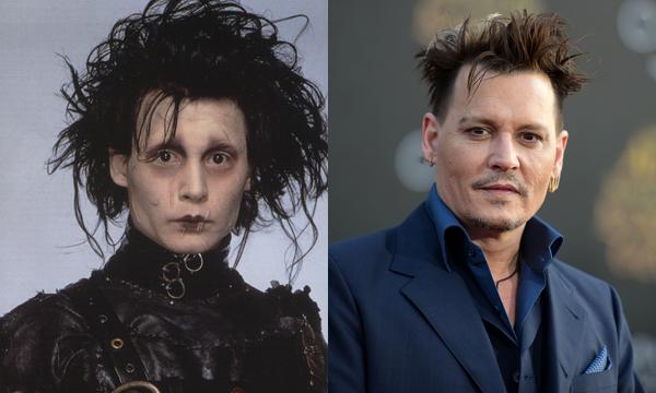 Johnny Depp em 1990 e atualmente (Foto: Divulgao)