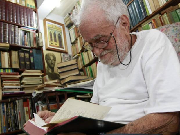 Benedito Nunes é autor de diversas obras, que fizeram ele vencedor duas vezes do Prêmio Jabuti, o maior da literatura do Brasil (Foto: Camila Lima/O Liberal)