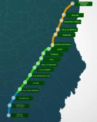 BRT da Linha Verde será concluído (Foto: Divulgação/ Prefeitura de Curitiba)