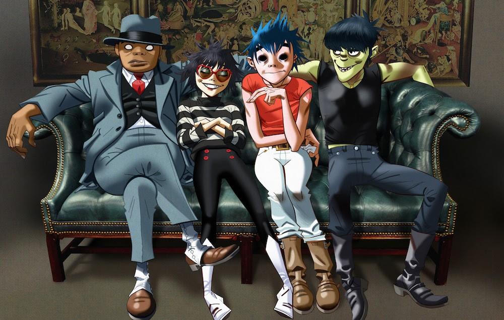A banda Gorillaz no clipe de Saturnz Barz (Foto: Reprodução/Youtube)