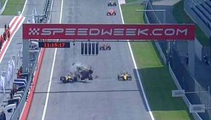 Roberto Merhi acidente Áustria
