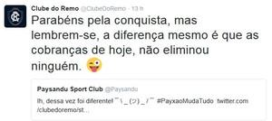 Twitter oficial do Remo (Foto: Reprodução/Twitter do Paysandu)