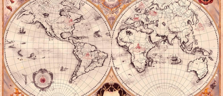 Mapa completo divulgado no Pottermore, com a localização das escolas de magia reveladas até hoje (Foto: Reprodução)