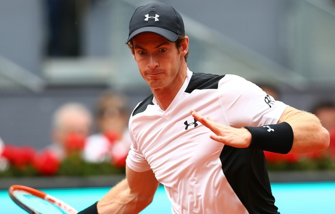 Andy Murray vence Gilles Simon no Masters 1000 de Madri (Foto: Getty Images)