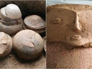 Stonehenge Calçoene Amapá megálito Iepa urnas funerárias (Foto: Mariana Cabral/Iepa)