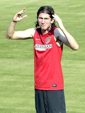 Filipe Luis treino Atlético de Madri (Foto: EFE)
