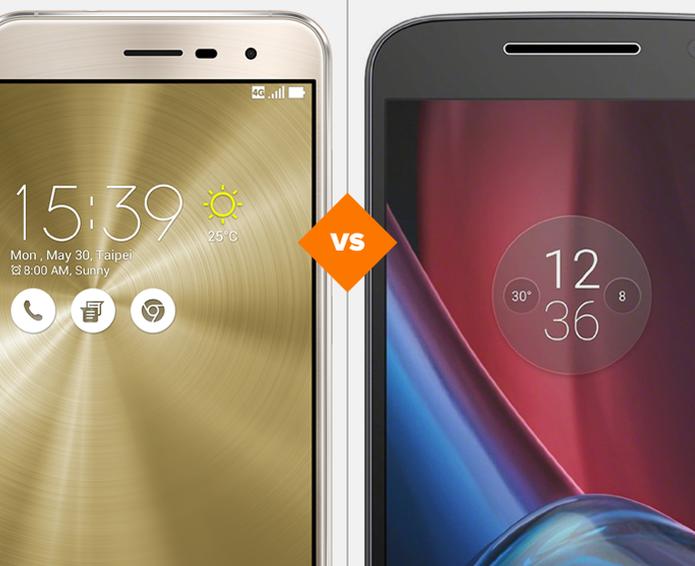 Zenfone 3 e Moto G 4 Plus: veja o comparativo de ficha técnica (Foto: Arte/TechTudo)