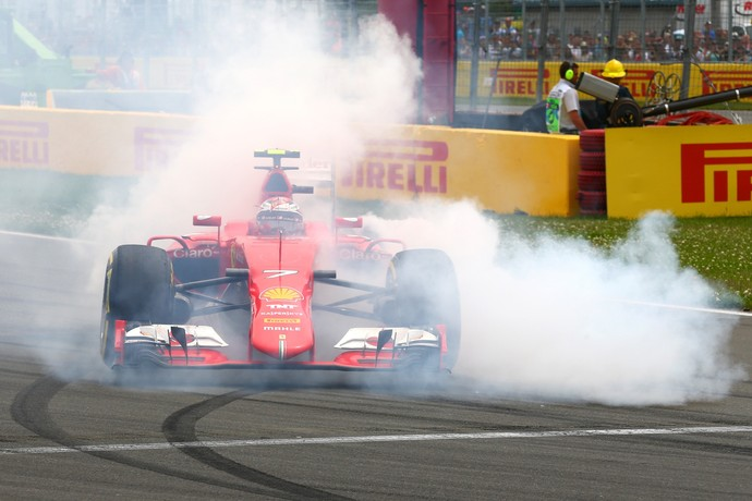 Kimi Raikkonen rodou sozinho no GP do Canadá (Foto: Getty Images)