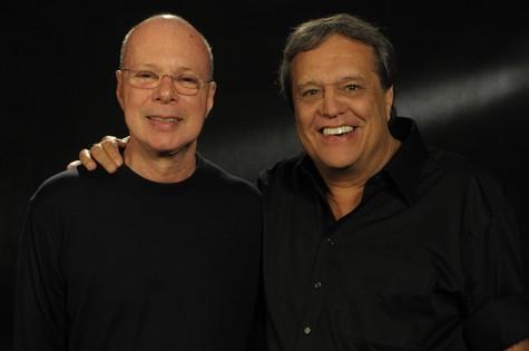 Dennis Carvalho e Gilberto Braga (Foto: João Cotta)