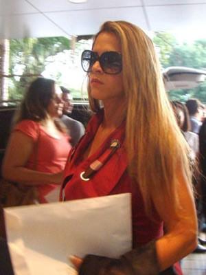 A assessora Denise Leitão Rocha em foto tirada em maio deste ano (Foto: Yala Sena/Arquivo Pessoal)