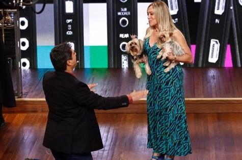 Zeca Camargo e Susana Vieira na estreia (Foto: Inácio Moraes / TV Globo)