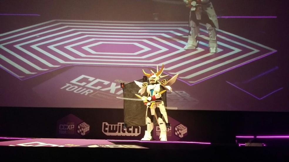 Fantasias bem elaboradas foram destaque na convenção (Foto: Pedro Alves/G1)