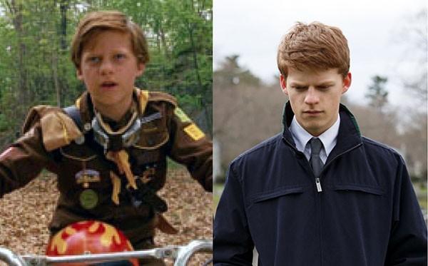 Lucas Hedges em 'Moonrise Kingdom' (2012) e 'Manchester À Beira-Mar' (2016) (Foto: Divulgação)