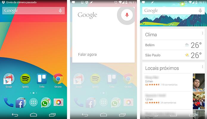 Android puro do Nexus 5 vem acompanhado de launcher exclusivo (Foto: Reprodução/Paulo Alves)