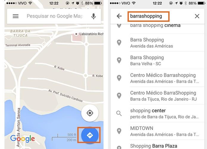 Encontre o local de destino no Google Maps para iOS (Foto: Reprodução/Barbara Mannara)