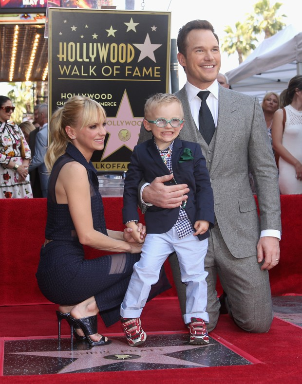 Anna Faris, Jack e Chris Pratt (Foto: Getty Images)