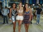 Com Quitéria e Suzana, Karen mostra samba no pé em ensaio da Vila Isabel