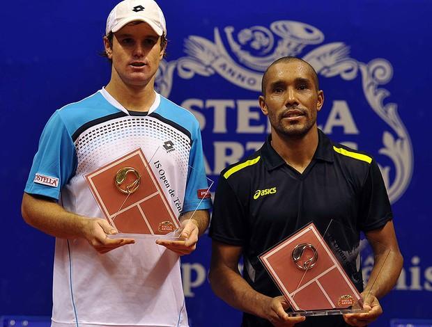 tênis júlio silva Blaz Kavcic IS Open de Tênis (Foto: João Pires / Divulgação)