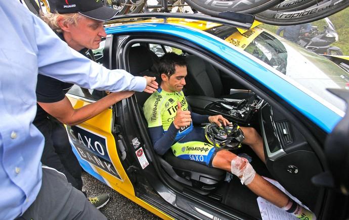 Alberto Contador Tour da França (Foto: Agência AP )