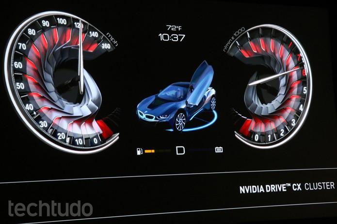 Drive CX é equipado com o Tegra X1 e transmite imagens em alta resolução para múltiplas telas (Foto: Isadora Díaz/TechTudo)