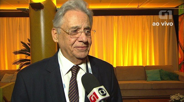 Fernando Henrique Cardoso fala sobre expectativa para o debate da TV Globo