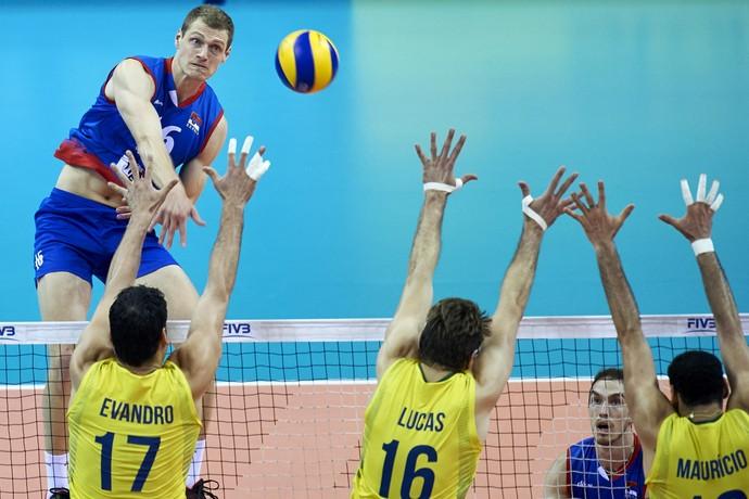 Brasil x Sérvia Liga Mundial de vôlei (Foto: FIVB)