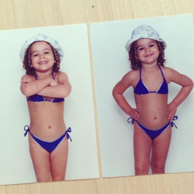 Bruna Marquezine em foto de infância (Foto: Reprodução/Instagram)
