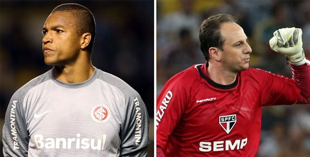 Dida e Rogério Ceni são destaques de seus times. (Foto: Globo)