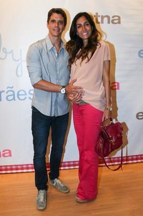 Márcio Garcia e a mulher, Andrea Santa Rosa, em evento em São Paulo (Foto: Manuela Scarpa/ Foto Rio News)