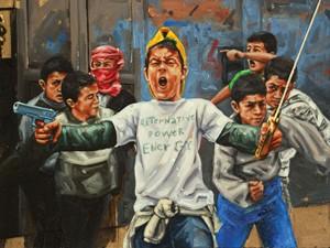 Exposição reúne quinze obras (Foto: Reprodução / Fábio Baroli)