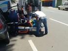 Idosa sofre acidente de carro no centro de Piracicaba, SP