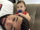 Jonathan Costa posta vídeo fofo brincando com o filho Salvatore