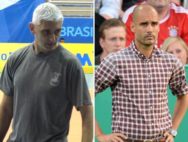 montagem Marcelo Gigante e Pepe Guardiola (Foto: Montagem sobre foto da CBV)
