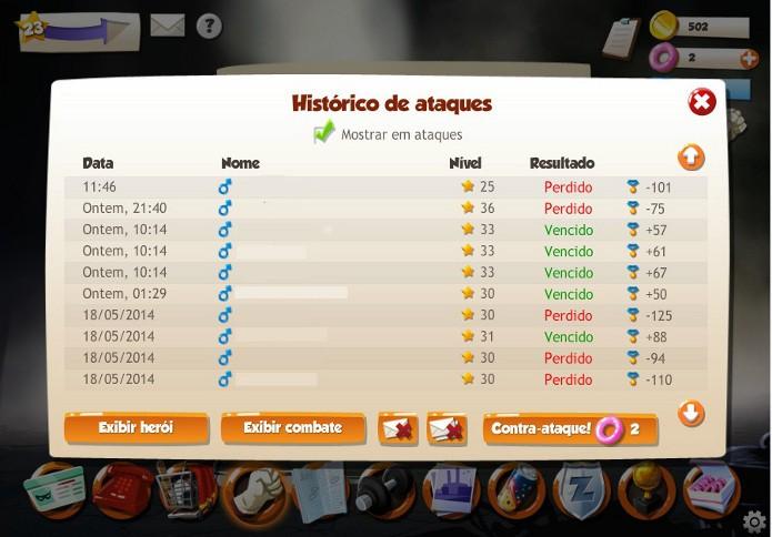 Confira a sua tabela de duelos e veja com quem duelou (Foto: Reprodução / João Moura)