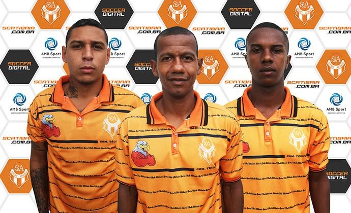Léo Cruz, Regionaldo, Iago, Atibaia (Foto: Fábio Giannelli/S.C. Atibaia)