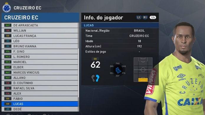PES 2017: Lucas é um dos piores jogadores do Brasileirão (Foto: Reprodução/Thomas Schulze)