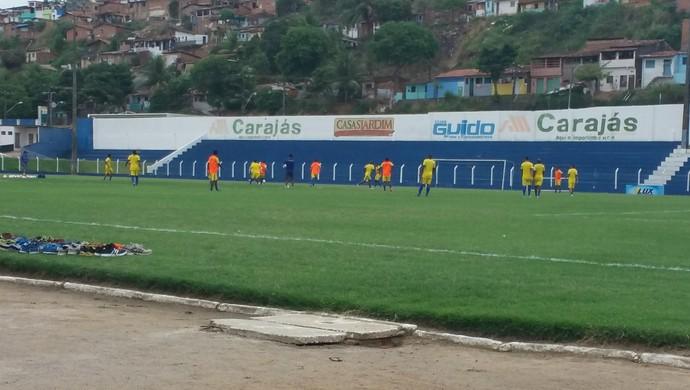 Treino do CSA nesta terça-feira (Foto: Augusto Oliveira/GloboEsporte.com)