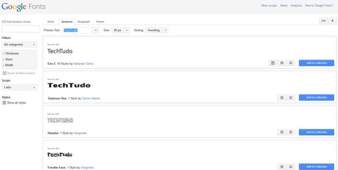Google Fonts (Foto: Reprodução/Barbara Mannara)
