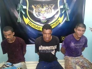 Presos recapturados (Foto: Divulgação/Dicap)