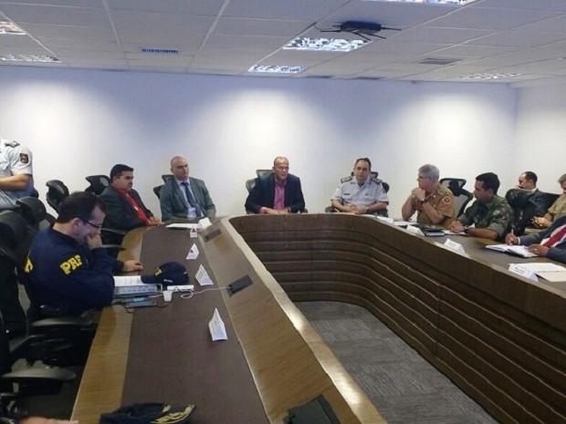Reunião aconteceu na manhã desta quarta (24) com representantes da Sesed, MP e TRE/RN (Foto: Governo do RN/Divulgação)