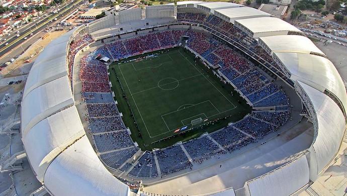 Foto aérea da Arena das Dunas, em Natal - rodada inaugural (Foto: Canindé Soares)