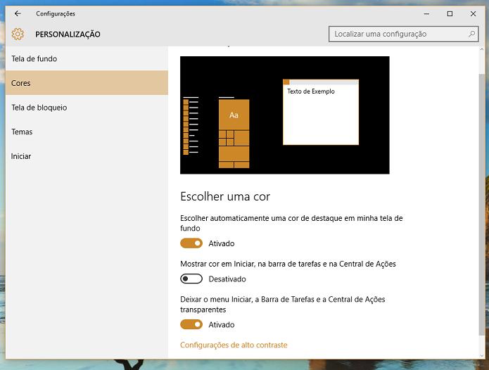 É neste menu que você faz as configurações (Foto: Reprodução/Thiago Barros)