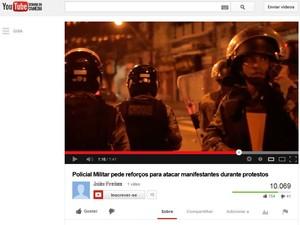Pede pede reforço por telefone e diz que vai 'quebrar o pau' em manifestação na Bahia (Foto: Reprodução you tube)