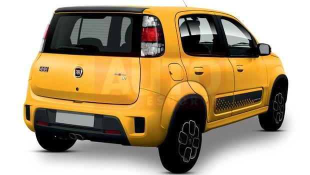 Projeção revela como será o Fiat Uno Sporting reestilizado (Foto: Yuri Queiroz/Autoesporte)