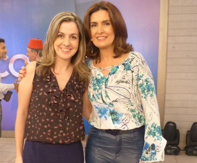 Fátima e uma convidada do 'Encontro' (Foto: Viviane Figueiredo Neto/Gshow)