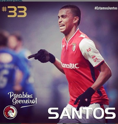 Aderllan Santos, Braga, zagueiro (Foto: Reprodução/ Instagram Oficial Braga)