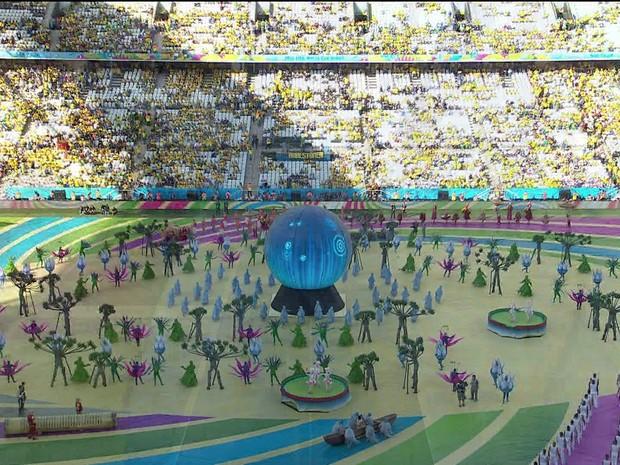 Brasil vence a Croácia na abertura da Copa 2014/GNews (Foto: Reprodução GloboNews)