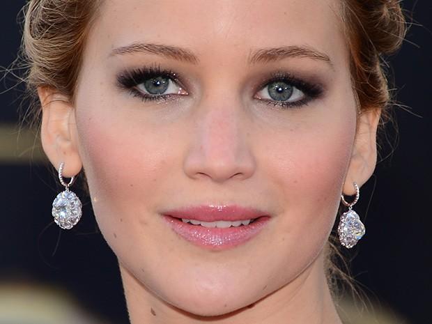 Jennifer Lawrence no Oscar (Foto: AFP / Agência)